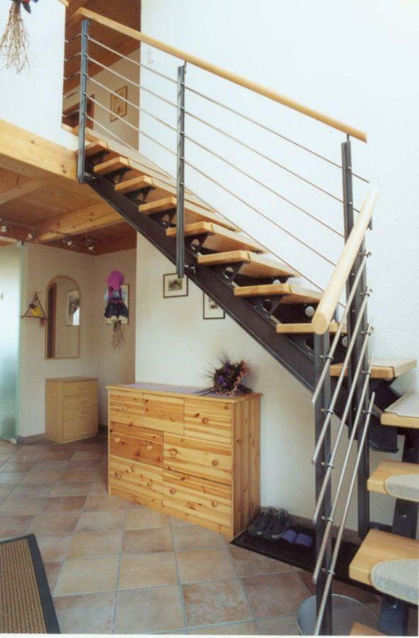 Stahl Holz Treppe treppen feiner schreiner